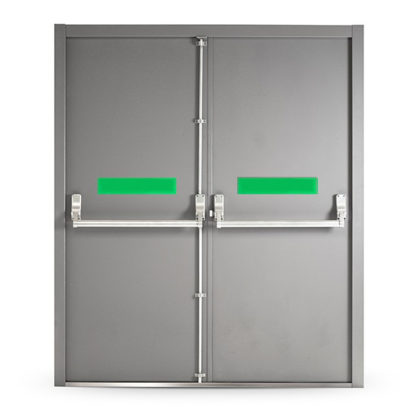Fire Exit Door with Panic Bar (Double)