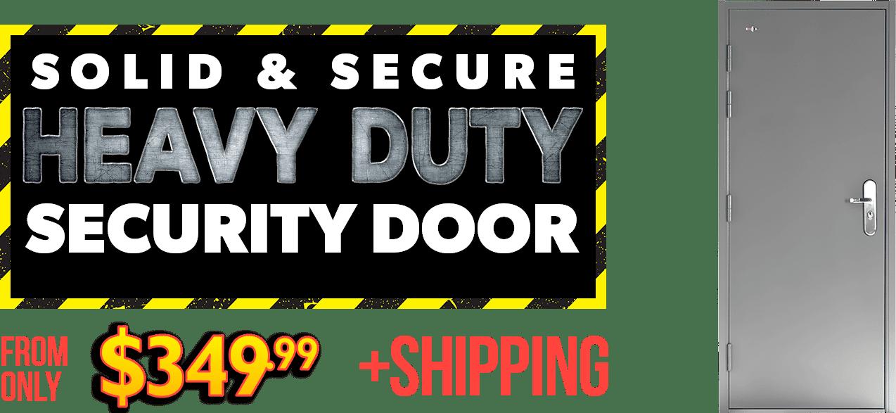 grey steel security door